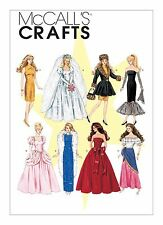 """McCalls Sewing Pattern M6232 Fashion Dolls Clothes to fit approx 11.1/2""""or 29cm"""