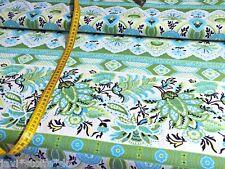 Baumwollstoff Baumwolle Ranken Ornamente blau grün Streifen Patchwork
