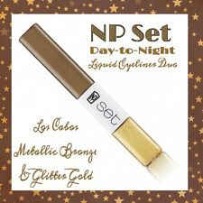NP Set DAY-TO-NIGHT LIQUID EYELINER DUOS Los Cabos Metallic Bronze Glitter Gold