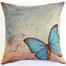 Butterfly Cotton Owl Linen Pillow Case Sofa Throw Cushion Cover Home Decor ATAU