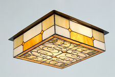 Contemporary Tiffany Style Ceiling Light (matching table lamp available)
