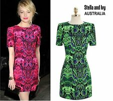women's cocktail party dress vibrant green shift size 10 au new
