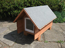 PEAK ROOF WITH CATFLAP MEDIUM OUTDOOR SHELTER CAT/SMALL DOG/RABBIT KENNEL/HOUSE