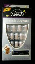 Pretty Woman French Accents 36 Artificial Nails Glue&Applicator Kit-Sheer French