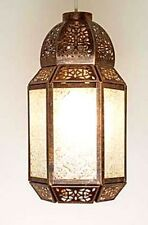 Antique Copper Tone Metal Morrocan Lantern Style Ceiling Light Shade Pendant NEW