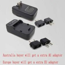 Wall Battery Charger For LEICA BP-DC5 V-LUX1 PANASONIC S006A CGA-S006E DMW-BMA7