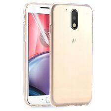 Motorola Moto G4 - New Ultra Thin Crystal Clear Soft Gel Back Case Cover Pouch