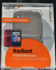 Cygnett Radiant Frosted Flexi case for HTC Desire S  includes screen protector
