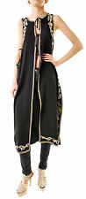 Free People Women's Authentic Embroidered Maxi Vest Black Size L RRP £153 BCF66