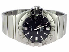 Omega Constellation Calendar Double Eagle 15135100 Stahl Quarz Herren Armbanduhr