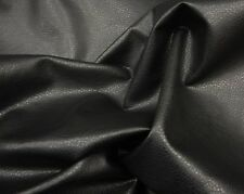 """54"""" Wide  Black Ford Upholstery  Faux Leather Vinyl Fabric by the yard"""
