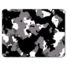 BLACK GREY Camouflage Army Military Marines PC Computer Mousemat Mouse Mat Pad
