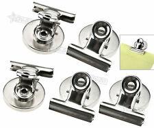 5 x Magnetic Clips Fridge Magnet Refrigerator Holder Meno Note Message Clip