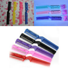 Cute Salon Hairdressing Razor Comb Hair Scissor Cut Thinning Feathering Trimmer