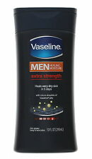 Vaseline Extra Strength Body and Face Lotion for Men, 10 Ounce, New