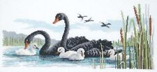 Black Swans -  Cross Stitch Chart - Country Threads