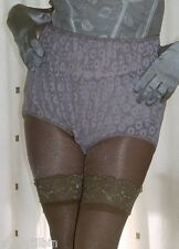 Vintage style latte sheer lace granny full briefs knickers panties size large