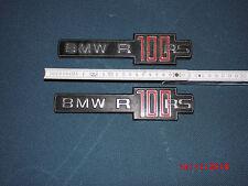 ZWEI 2 BMW Typenschild Motor R100 RS rot Emblem Logo Oldtimer