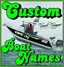 Boat Decals Ebay