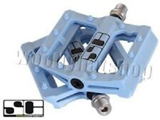 """Savage Components 'Slim Jim' 9/16"""" BMX Bicycle Bike Cycling Stunt Pedals in Blue"""