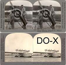 18 Stereofotos von alten Flugzeugen um 1920 - Serie 1