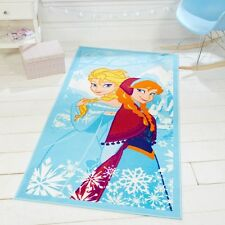 Disney Frozen Anna Elsa Blue Kids / Childrens Play Rug 80x120cm