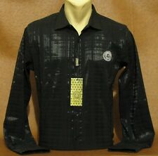Brand NEW Men's VERSACE Long Sleeve Slim Fit Black SHIRT Size M