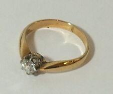 Damen  Rosegoldring in .585 mit Altschliff Diamanten    # sch111