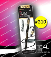 LOreal Infallible Never Fail Pencil Eyeliner 210 Charcoal