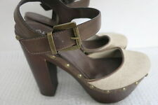 Ladies Shoes Size 39 High Heel Brown Oatmeal Aldo Label