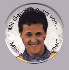 1Stück ~ älterer Schumacher Button ~ Durchmesser 7,5 cm ~