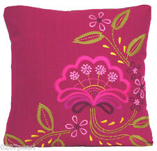 Designers Guild Flower Cushion Cover Pink Embroidered Pillow Case Fabric Irina