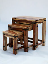 Jali Solid Indian Sheesham Wood -Nest of table 3