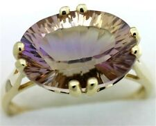 5.35ct Ametrine 9ct 9K Solid Gold Unique Ring - Sz M/6.5 - 30 Day Refunds