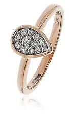 18ct Rose Gold Real Diamond Pear Shape Cluster Ring 0.15ct G SI1