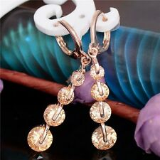9ct Gold Filled Champagne Morganite Drop Earrings Modern Gift