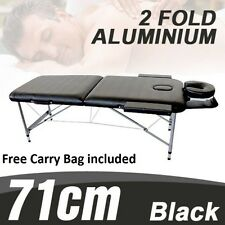 NEW ALUMINIUM PORTABLE MASSAGE BED TABLE CHAIR 2 FOLD BEAUTY THERAPY WAXING BEDS