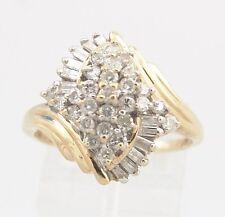 Diamant - Ring, 0,80ct, 14K Gelbgold