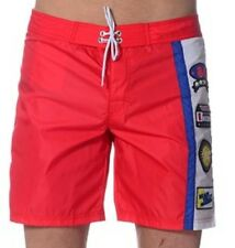 moschino mens red White Blue swim shorts size 50 34  W