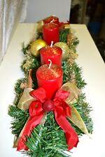 excl. Adventskranz  künstlich rot gold 60 cm Weihnachten Advent Gesteck