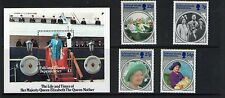 FALKLAND ISLANDS DEP.QEII  LIFE and TIMES of Queen Mother SET/SHEET MNH