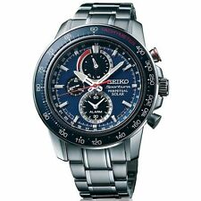 MENS BRAND NEW SEIKO SPORTURA SOLAR POWERED CHRONOGRAPH WATCH SSC355P1 WATCH