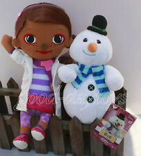 New set of 2 pcs Doc Mcstuffins Doc and Chilly stuffed plush doll