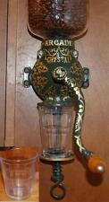 Coffee Catch Cup Glass Jar fits Antique Arcade 3 Grinder Pane Depression Clear