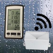 Wireless Weather Station 3Sensor Digital Rain Gauge Humidity Indoor Outdoor Temp