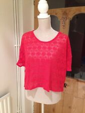 ASOS Red Lace Style Crop Top Size 10