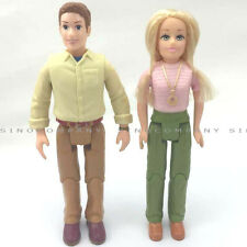 Fisher Price Collection Loving Family 2006 Mom Dad Figure Dolls For Dollhouse