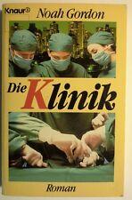 """Roman """"Die Klinik"""", von Autor  Noah Gordon,  Knaur- Verlag, Taschenbuch"""