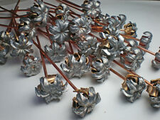 20 Pieces Expanded Bullet Flowers With Copper Stems