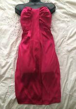 """ALLSAINTS All Saints Spitalfields """"MINI RIVA"""" Pink Silk Dress Size 12 UK"""